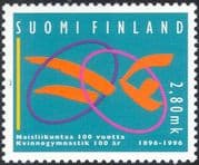 Finland 1996 Women's Gymnastics Association/ Gymnast/ Sports/ Games/ Animation 1v (s4559e)