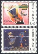 Finland 1997 Europa  /  Tales  /  Legends  /  Merganser  /  Duck  /  Birds  /  Animation 2v set (n41007)