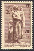 France 1939 Boulogne Statue Fund/ Sailors Monument/ Mother/ Children/ Welfare/ Art 1v (n41428)