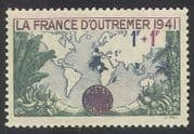 France 1941 Map  /  Empire  /  Relief Fund  /  Fruit  /  Trees  /  Nature 1v (n33143)