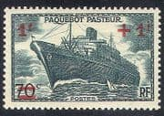 France 1941 Ships  /  Boats  /  Nautical  /  Surcharge 1v (n23274)
