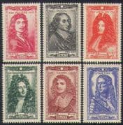 France 1944 Relief Fund  /  People  /  Writers  /  Mathematics  /  Royalty 6v set (n35288)