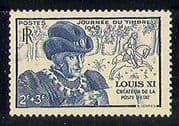 France 1945 Horse  /  Animals  /  Animation  /  Stamp Day  /  Royalty 1v n29176
