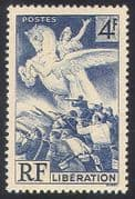 France 1945 Winged Horse  /  Army  /  Liberation 1v (n23458)