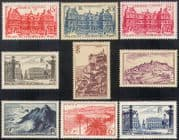 France 1946 Tourism/ Buildings/ Architecture/ Lighthouse/ Palm Trees 9v set (n41995)