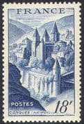 France 1947 (1948 issue) Conques Abbey/ Buildings/ Architecture/ Heritage/ History/ Religion 1v n41994