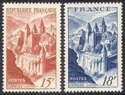 France 1947 Abbey  /  Buildings  /  Architecture  /  History  /  Heritage  /  Religion 2v set n41030