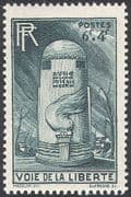 France 1947 Road Maintenance Fund/ Liberty/ Milestone/ Animation/ Flames 1v (n31497)