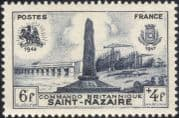 France 1947 St Nazaire/ Monument/ Submarines/ Commandos /Boats/ Navy/ WWII/ Military 1v (n23276)