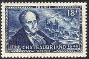 France 1948 Chateaubriand/ Writer/ Politics/ Homoeopathy/ Homeopathy/ Medical/ People 1v (n32553)