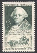 France 1949 Stamp Day  /  Horses  /  Mail Coach  /  Post 1v n31494