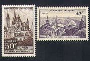 France 1951 Observatory  /  Astronomy  /  Church  /  Buildings  /  Architecture 2v set (n34091)
