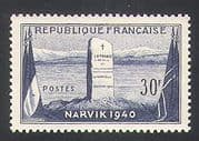 France 1952 Narvik  /  Monument  /  Memorial  /  Flags  /  Military  /  Battle 1v (n36104)
