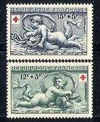 France 1952 Red Cross  /  Medical  /  Health  /  Art 2v set  n29790