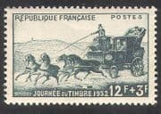 France 1953 Stamp Day  /  Mail-coach  /  Horses  /  Animals  /  Transport  /  Post 1v (n39347)