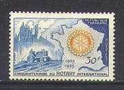 France 1955 Rotary 50th  /  Tractor  /  Industry 1v (n24266)