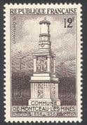 France 1956 Coal Mining/ Monument/ Lamp/ Minerals/Energy/ Miners 1v (n33141)