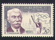 France 1956 Coubertin  /  People  /  Olympic Games  /  Olympics  /  Sports  /  Athletics 1v (n34092)
