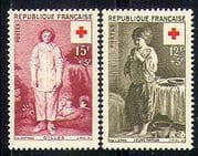France 1956 Red Cross  /  Medical  /  Health  /  Children 2v n29793
