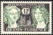 France 1956 Reims/ Florence/ Women/ Cathedral/ Buildings/ Architecture 1v (n43365)