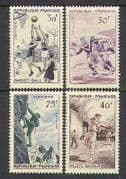 France 1956 Sports  /  Basketball  /  Rugby 4v set (n26701)