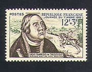 France 1956 Stamp Day  /  Post  /  Horse  /  People  /  Mail Courier  /  Francis of Taxis 1v n33116
