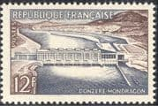France 1956 Technical Achievements/ Donzere-Mondragon Barrage/ Dam/ Hydro-electricity/ Energy/ Water/ Buildings/ Construction/ Electricity 1v n43770