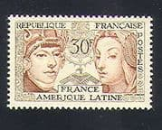 France 1956 Women  /  Franco-Latin America Friendship  /  Co-operation 1v (n33119)