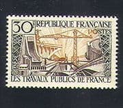 France 1957 Bridge  /  Dam  /  Crane  /  Buildings  /  Energy  /  Electricity  /  Construction 1v n33117