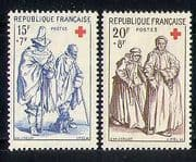 France 1957 Red Cross  /  Medical  /  Health 2v set (n27713)