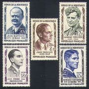 France 1957 War Heroes  /  People  /  Resistance Fighters  /  WWII  /  Military 5v set (n33590)