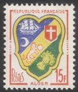 France 1958 French Towns Coats-of-Arms/ Algiers/ Heraldry/ Ships/ Lions/ Wheat 1v (n45304)