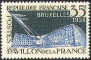 France 1958 Pavilion/ EXPO/ Exhibition/ Buildings/ Architecture/ Commerce 1v (n42816)