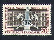 France 1959 Coal Mining  /  Tools  /  Lamp  /  Minerals  /  School  /  Energy 1v (n23292)