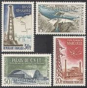 France 1959 Energy  /  Power  /  Electricity  /  Oil  /  Dam  /  Buildings  /  Atomic 4v set (n33086)