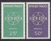 France 1959 Europa  /  Linked Chain Design  /  Animation 2v set (n35062)