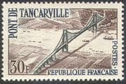 France 1959 Tancarville Suspension Bridge/ Boats/ Ships/ Motoring/ Transport/ Engineering/  Architecture 1v (n29016)