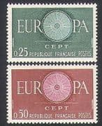 France 1960 Europa  /  Design  /  Animation 2v set (n35064)