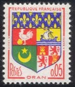 France 1960 French Towns Coats-of-Arms/ Heraldry/ Ship/ Cockerel/ Lions 1v (n45281)
