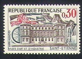 France 1960 Museum  /  Mining  /  Bicycle  /  Rifle  /  Textiles  /  Building  /  Transport 1v (n34758)