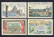 France 1960 Tourism  /  Buildings  /  Architecture  /  Church  /  Basilica 4v set (n32926)