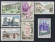 France 1960 Tourism  /  Buildings  /  Bridges  /  Church  /  Castle  /  Fort  /  Mountains 7v set n33554