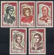France 1961 Actors  /  Acting  /  Theatre  /  People  /  Drama  /  Entertainment 5v set (n35314)