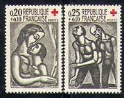 France 1961 Red Cross  /  Medical  /  Health  /  Art 2v set  n29912