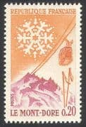 France 1961 Tourism  /  Mont Dore  /  Sports  /  Skiing  /  Cable Car  /  Snow  /  Transport 1v (n23471)