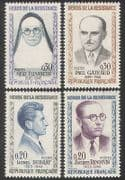 France 1961 War Heroes  /  Military  /  People  /  Resistance Fighters  /  WWII 4v set (n39364)