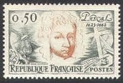 France 1962 Blaise Pascal  /  Mathematics  /  Physics  /  Science  /  People 1v (n40725)