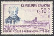 France 1962 Bretonneau/ Medical Science/ People/ Bridge/ Transport 1v (n29017)