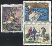 France 1962 Horse  /  Military  /  Art  /  Paintings 3v set n31591