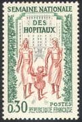 France 1962 Nurses/ Hospital Week/ Medical/ Health/ Welfare/ Buildings 1v (n42458)